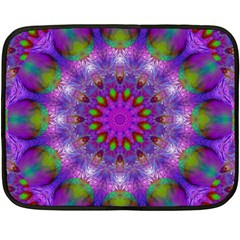 Rainbow At Dusk, Abstract Star Of Light Fleece Blanket (mini) by DianeClancy