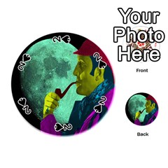 Sherlock Holmes Playing Cards 54 (round)  by icarusismartdesigns