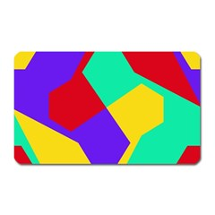 Colorful Misc Shapes                                                  			magnet (rectangular) by LalyLauraFLM