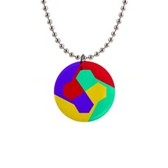 Colorful Misc Shapes                                                  			1  Button Necklace by LalyLauraFLM