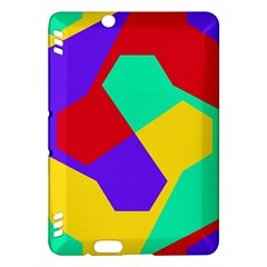 Colorful Misc Shapes                                                  			kindle Fire Hdx Hardshell Case by LalyLauraFLM