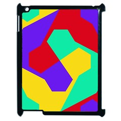 Colorful Misc Shapes                                                  apple Ipad 2 Case (black) by LalyLauraFLM