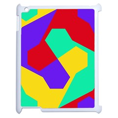 Colorful Misc Shapes                                                  apple Ipad 2 Case (white) by LalyLauraFLM