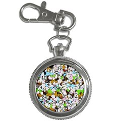 Brush Strokes On A White Background                                                   key Chain Watch by LalyLauraFLM
