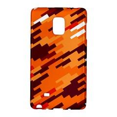 Brown Orange Shapes                                                    samsung Galaxy Note Edge Hardshell Case by LalyLauraFLM