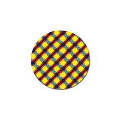 Blue X Chains                                                     golf Ball Marker by LalyLauraFLM