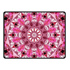 Twirling Pink, Abstract Candy Lace Jewels Mandala  Double Sided Fleece Blanket (small)  by DianeClancy