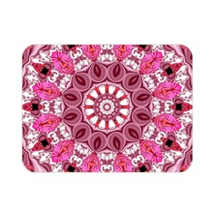 Twirling Pink, Abstract Candy Lace Jewels Mandala  Double Sided Flano Blanket (mini)  by DianeClancy