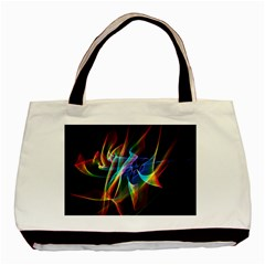 Aurora Ribbons, Abstract Rainbow Veils  Basic Tote Bag by DianeClancy