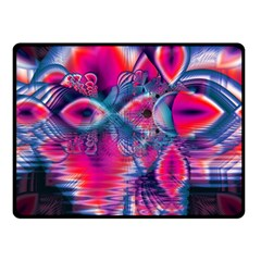 Cosmic Heart Of Fire, Abstract Crystal Palace Double Sided Fleece Blanket (small)  by DianeClancy