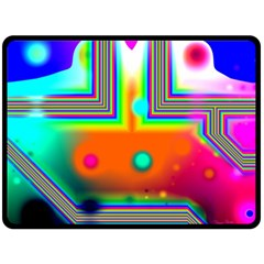 Crossroads Of Awakening, Abstract Rainbow Doorway  Fleece Blanket (large)  by DianeClancy