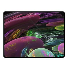 Creation Of The Rainbow Galaxy, Abstract Double Sided Fleece Blanket (small)  by DianeClancy