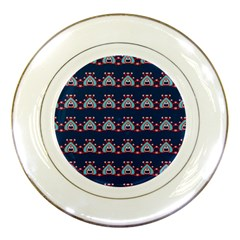 Hearts Pattern                                                      			porcelain Plate by LalyLauraFLM