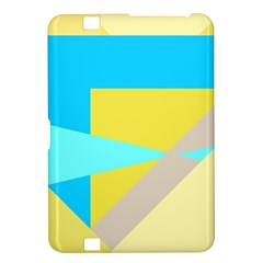Blue yellow shapes                                                        			Kindle Fire HD 8.9  Hardshell Case by LalyLauraFLM