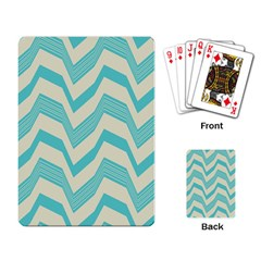 Blue Waves Pattern                                                         			playing Cards Single Design by LalyLauraFLM
