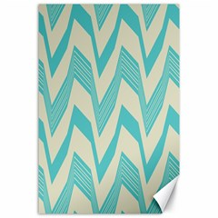 Blue Waves Pattern                                                         canvas 24  X 36  by LalyLauraFLM