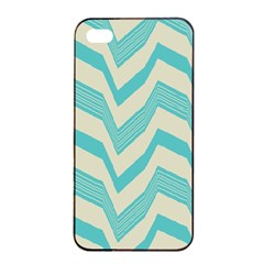 Blue Waves Pattern                                                         			apple Iphone 4/4s Seamless Case (black) by LalyLauraFLM