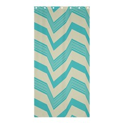 Blue Waves Pattern                                                         	shower Curtain 36  X 72  by LalyLauraFLM