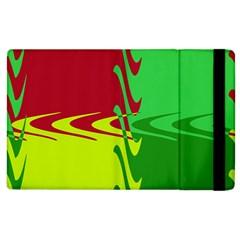 Wavy Shapes                                                         apple Ipad 3/4 Flip Case by LalyLauraFLM