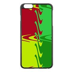 Wavy shapes                                                         Apple iPhone 6 Plus/6S Plus Black Enamel Case