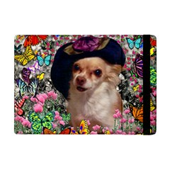 Chi Chi In Butterflies, Chihuahua Dog In Cute Hat Apple Ipad Mini Flip Case by DianeClancy