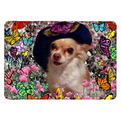 Chi Chi In Butterflies, Chihuahua Dog In Cute Hat Samsung Galaxy Tab 8 9  P7300 Flip Case by DianeClancy