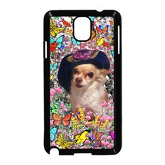 Chi Chi In Butterflies, Chihuahua Dog In Cute Hat Samsung Galaxy Note 3 Neo Hardshell Case (black) by DianeClancy