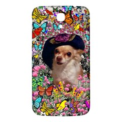 Chi Chi In Butterflies, Chihuahua Dog In Cute Hat Samsung Galaxy Mega I9200 Hardshell Back Case by DianeClancy
