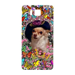 Chi Chi In Butterflies, Chihuahua Dog In Cute Hat Samsung Galaxy Alpha Hardshell Back Case by DianeClancy