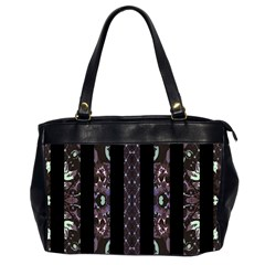 Oriental Floral Stripes Office Handbags (2 Sides)  by dflcprints