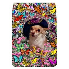 Chi Chi In Butterflies, Chihuahua Dog In Cute Hat Flap Covers (l)  by DianeClancy