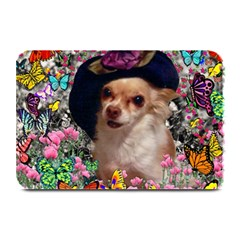 Chi Chi In Butterflies, Chihuahua Dog In Cute Hat Plate Mats by DianeClancy