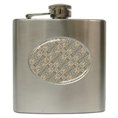 Cobblestone Geometric Texture Hip Flask (6 Oz) by dflcprints