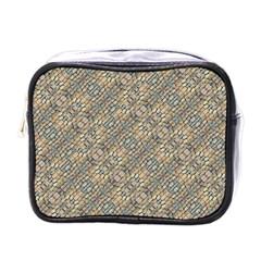 Cobblestone Geometric Texture Mini Toiletries Bags by dflcprints