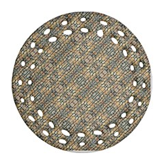 Cobblestone Geometric Texture Ornament (round Filigree)  by dflcprints