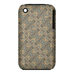 Cobblestone Geometric Texture Apple Iphone 3g/3gs Hardshell Case (pc+silicone) by dflcprints