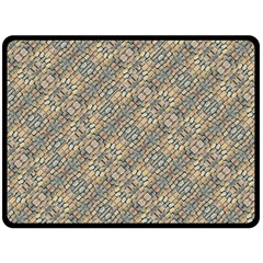 Cobblestone Geometric Texture Double Sided Fleece Blanket (large)  by dflcprints