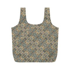 Cobblestone Geometric Texture Full Print Recycle Bags (m)  by dflcprints