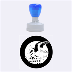Family Portrait Of The Recently Deceased Rubber Round Stamps (medium) by lvbart