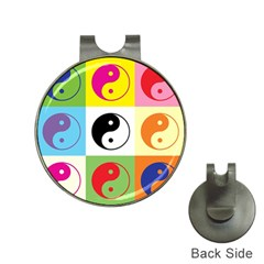 Ying Yang   Hat Clip With Golf Ball Marker by Siebenhuehner