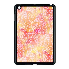 Sunny Floral Watercolor Apple Ipad Mini Case (black) by KirstenStar