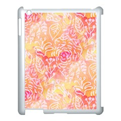 Sunny Floral Watercolor Apple Ipad 3/4 Case (white) by KirstenStar