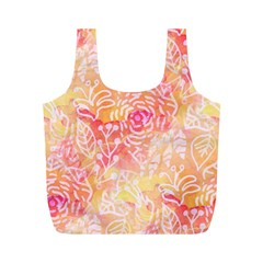 Sunny Floral Watercolor Full Print Recycle Bags (m)  by KirstenStar