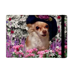 Chi Chi In Flowers, Chihuahua Puppy In Cute Hat Apple Ipad Mini Flip Case by DianeClancy