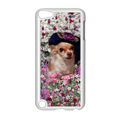 Chi Chi In Flowers, Chihuahua Puppy In Cute Hat Apple Ipod Touch 5 Case (white) by DianeClancy