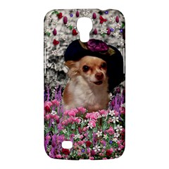 Chi Chi In Flowers, Chihuahua Puppy In Cute Hat Samsung Galaxy Mega 6 3  I9200 Hardshell Case by DianeClancy