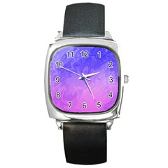 Ombre Purple Pink Square Metal Watch by BrightVibesDesign