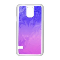 Ombre Purple Pink Samsung Galaxy S5 Case (white) by BrightVibesDesign