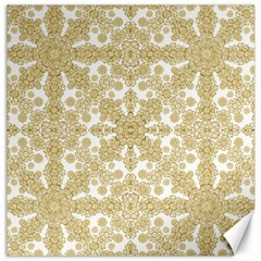 Golden Floral Boho Chic Canvas 20  X 20   by dflcprints