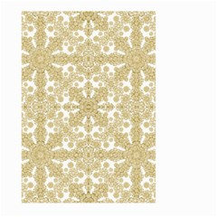 Golden Floral Boho Chic Large Garden Flag (two Sides) by dflcprints